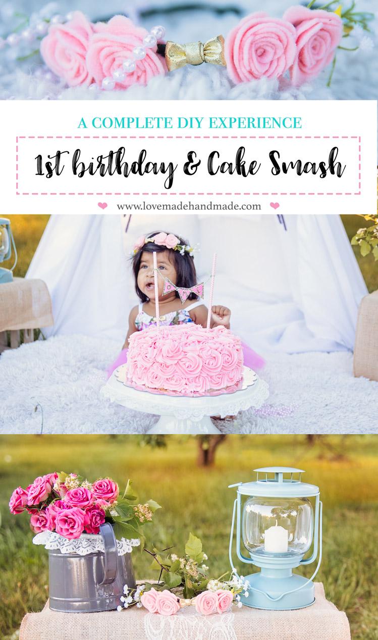 Brilliant A Complete Diy 1St Birthday Cake Smash Lovemade Handmade Personalised Birthday Cards Xaembasilily Jamesorg