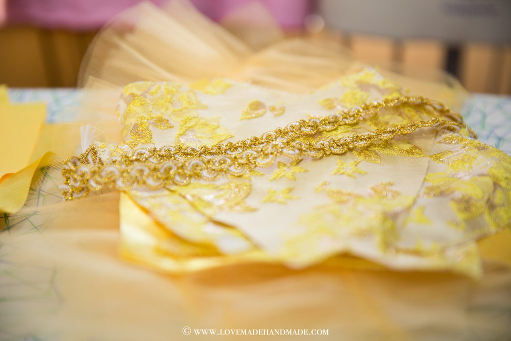 Princess Belle's Dress Reveal – a couture design by LOVEMADE HANDMADE