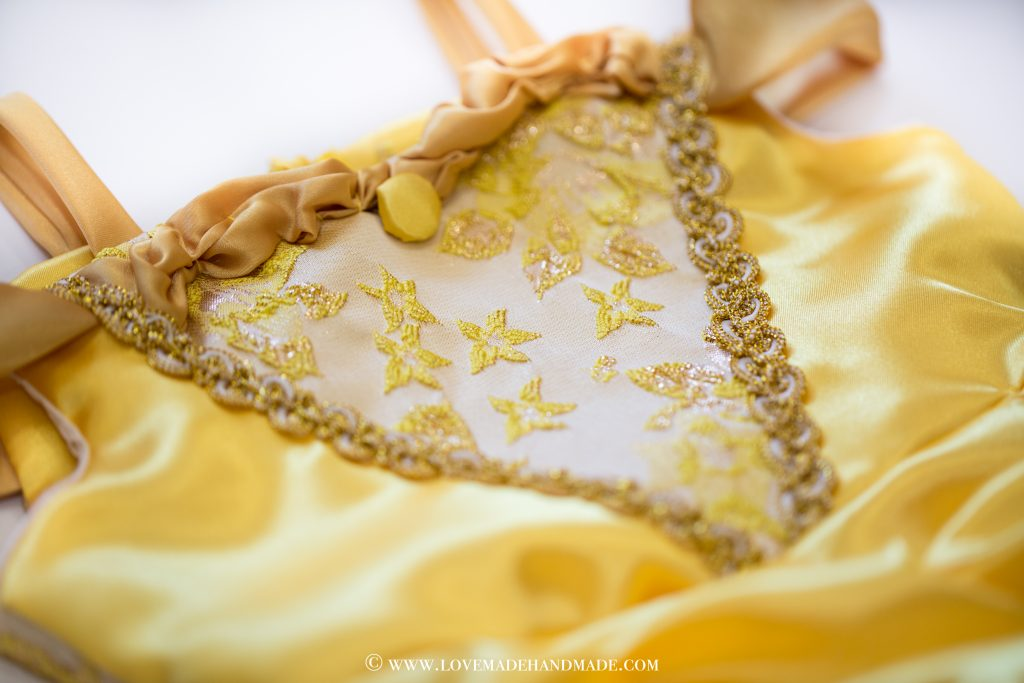 Princess Belle's Dress Reveal - couture design by Karina Moran @ LOVEMADE HANDMADE
