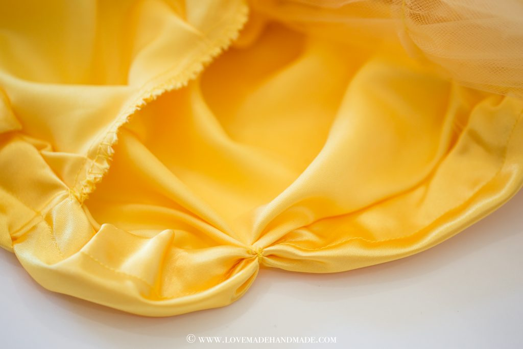 Couture Princess Belle Dress Reveal - Hem by Karina Moran @ Lovemade Handmade