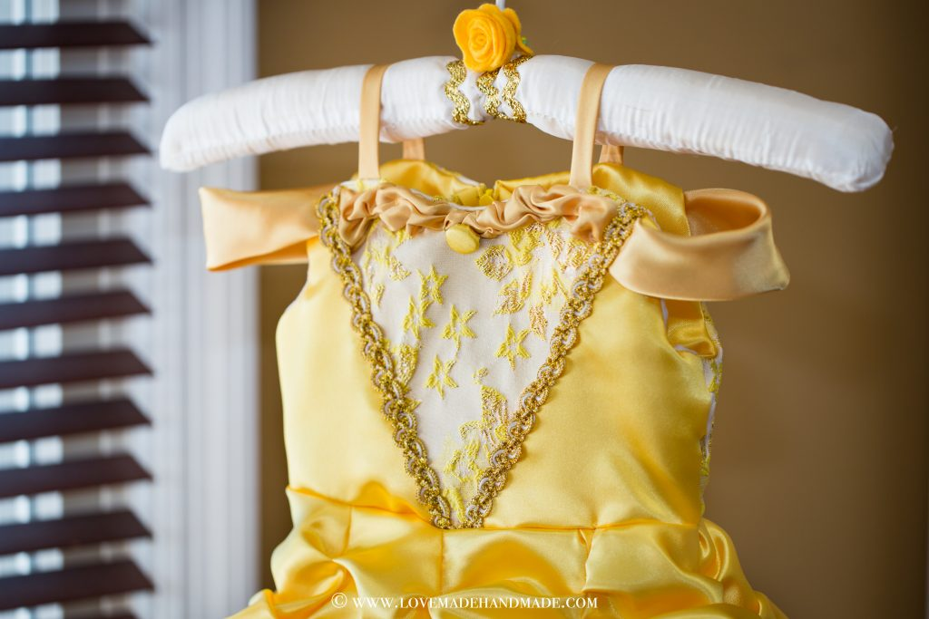 Princess Belle's Dress Reveal - Couture Bodice Design by Karina Moran - Lovemade Handmade