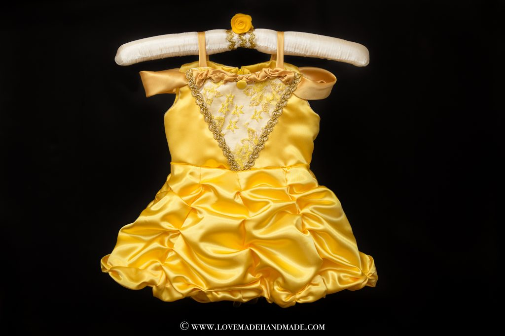 A couture Princess Belle Dress Reveal by LOVEMADE HANDMADE