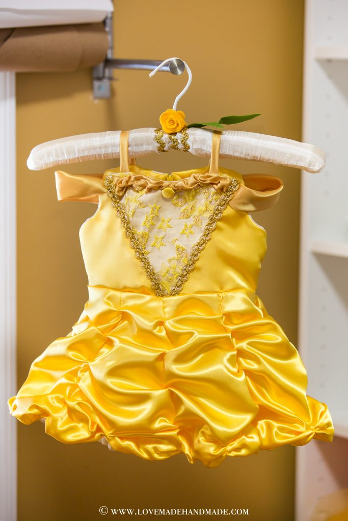 A couture Princess Belle Dress designed by Karina Moran @ LOVEMADE HANDMADE