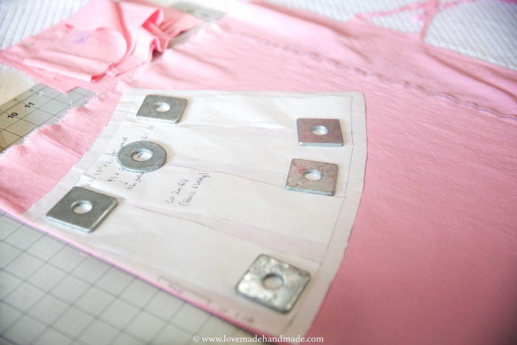 Cutting Fabric for Handmade Pinafore Birthday Dress - Lovemade Handmade