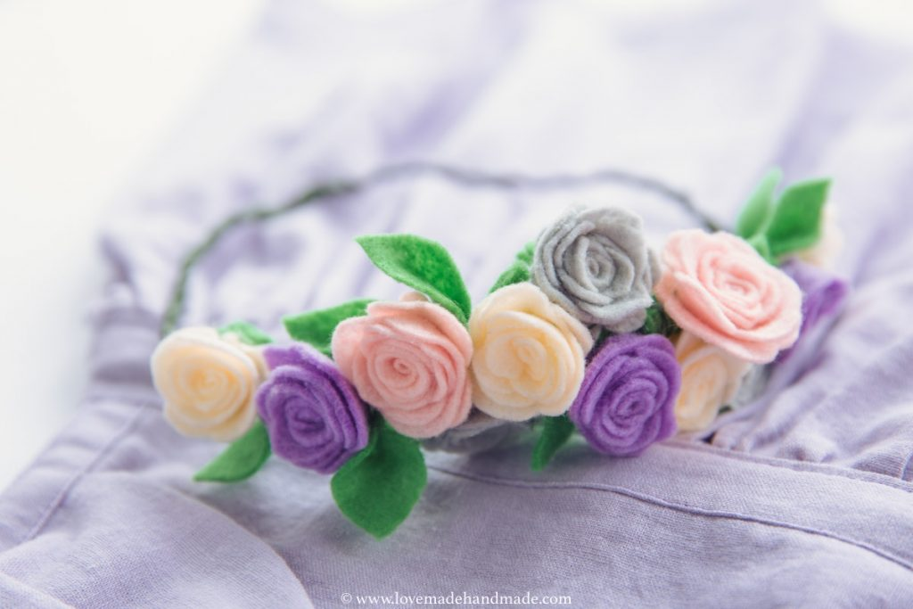 Floral Crown for Handmade Pinafore Dresses