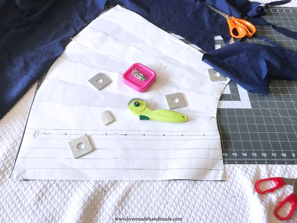 Cutting out the fabric for my HANDMADE 30th Birthday Dress - LOVEMADE HANDMADE