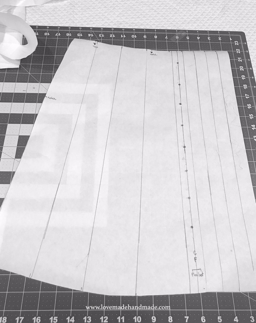 Altering the fullness of my skirt in my Handmade 30th Birthday Dress