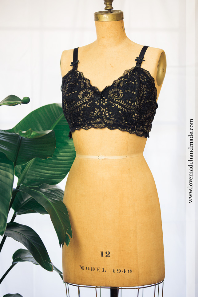Make yourself your own Bralette! All the details at Lovemade Handmade Blog