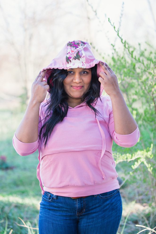 Introducing the Babe Hoodie by DIBY Club - a hoodie that you can sew yourself! Check out the one I made at LOVEMADE HANDMADE.