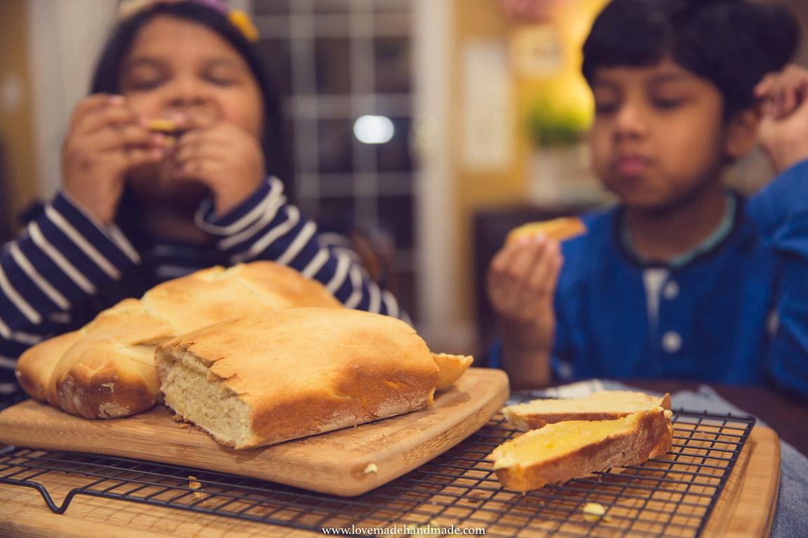 Homeschooled kids cooking - Lovemade Handmade