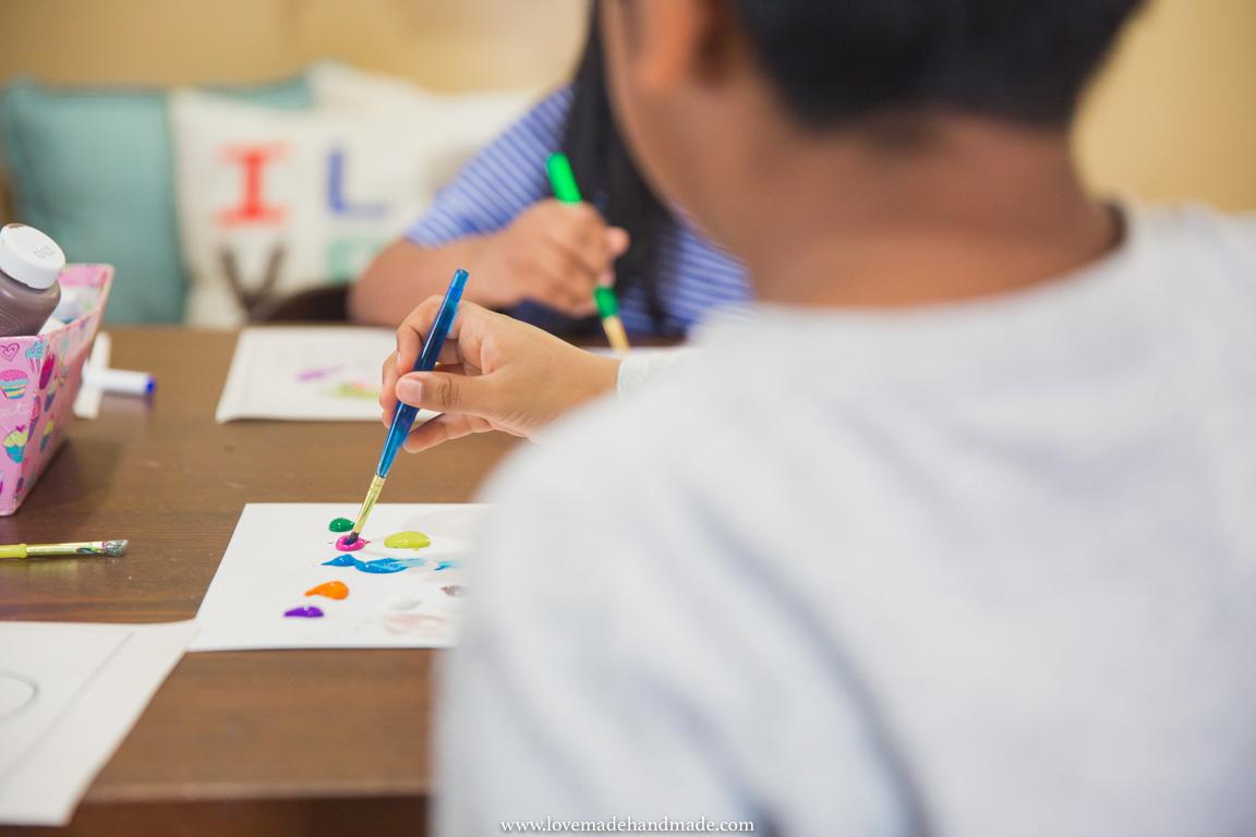 Homeschooled Kids Creating Art - LOVEMADE HANDMADE