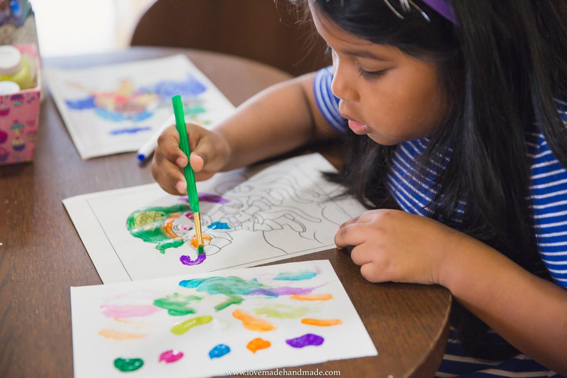 Homeschoolers creating Art - Lovemade Handmade